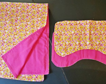 Couture Baby Blanket/Burpie Sets
