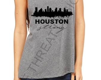 Houston Strong Tank/ Houston Skyline/ Texas Strong/ Hurricane Harvey Relief