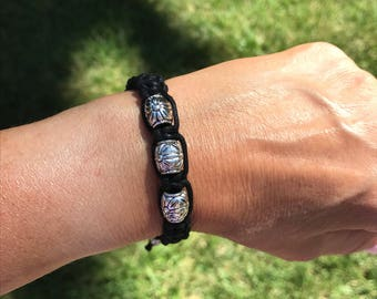 Adjustable Cotton Cord Shamballa Bracelet