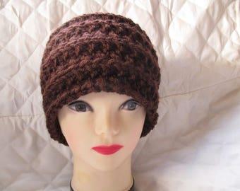 Brown knit headband headband