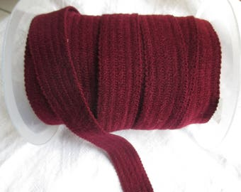 Ribbon strap bordeaux in 5 meters and 2.5 cm height