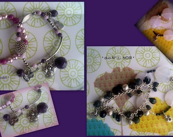 BRACELETS DUETS... in a set of 2 pairs... *.