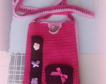BAG-shoulder bag in knit