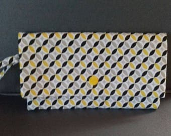 wallet, bag, case in geometric fabric