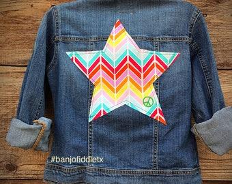 girls star denim jacket