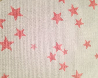 Quilted cotton coupon pink stars