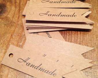set of 20 Handmade tags