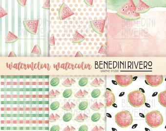 Watermelon Paper, Watermelon Digital Paper, Watermelon, Printable