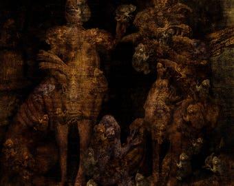 Alliance II | Art print | Limited edition | dark art | 60 x 60 cm | limited edition