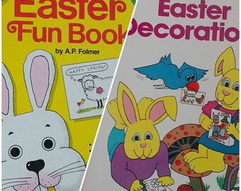 1980s Vintage Easter Decorations Children's Craft Activity Books Magazines