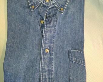 Classic Hunt Club Stone-Washed L/S Denim Shirt (M)