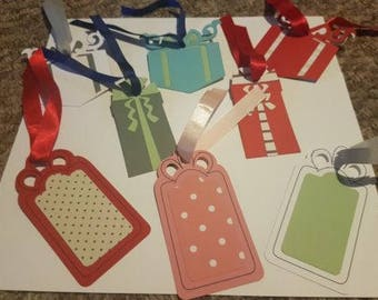Handmade assorted gift tags