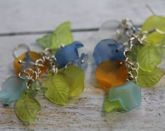 petals and flowers Normandy earrings