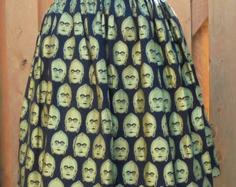 C3PO Star Wars Character Full Skirt*