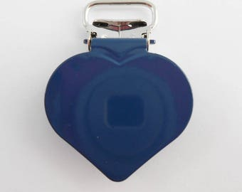 10 strap, tie clips pacifier & plush heart Navy from 15 mm