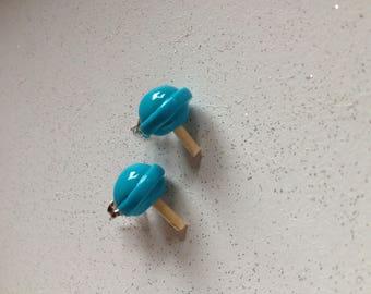 Polymer clay lollipop earrings