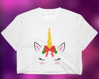 Unicorn Crop Top - Unicorn Gift - Unicorn Name Shirt - Unicorn Shirts Women - Unicorn T Shirt - Unicorn Shirt Girls - Colorful Unicorn Tee