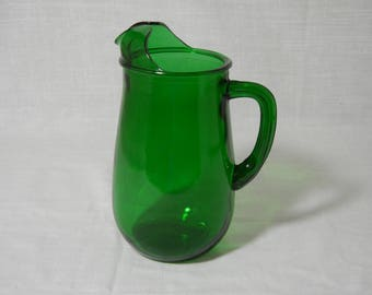 Forest Green Pitcher by Anchor Hocking