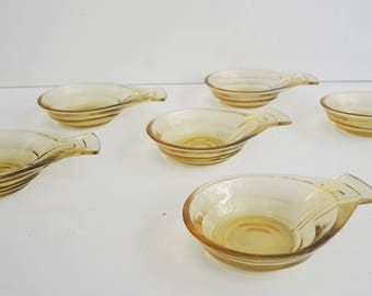 Set of 6 cups with handle - Art Deco