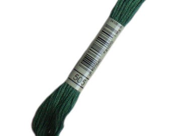 FLOSS 505 special DMC 505 green pine - embroidery FLOSS dmc Mouliné 505 - skein of thread dmc mouline 505