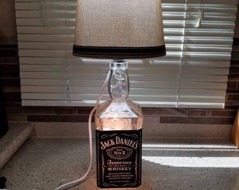Jack Daniel's Recycled Liquor Bottle Lamp