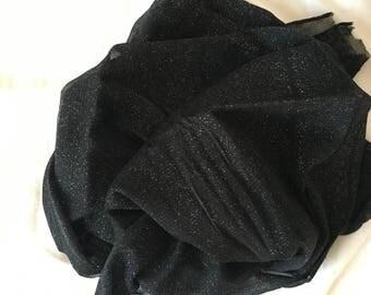 Chiffon - black and silver color