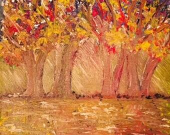 Autumn Rain - Original Oil on Canvas.
