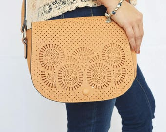 Lorena Laser Cut Shoulder Bag
