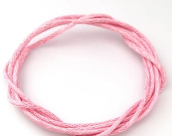 ♥ 5 m of cotton yarn rose light 1mm♥