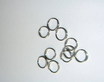 10 rondelles silver