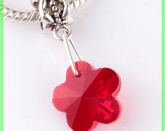 bail N63 clover European spacer bead for bracelet charms