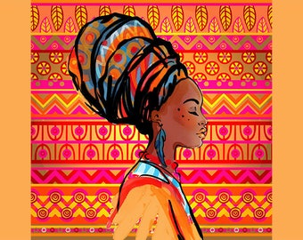 SEMI-rigid PLACEMAT, ORIGINAL design, WASHABLE and durable - African beauties 2.