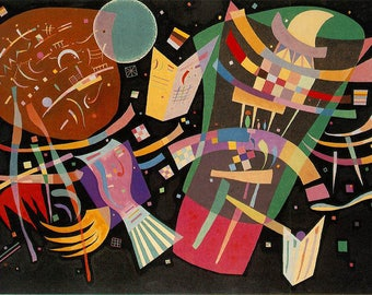 ORIGINAL design, durable and WASHABLE PLACEMAT - Wassily Kandinsky - Composition 10 - classic.