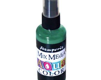 Green Aquacolor dark spray bottle