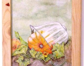 """Painting """"Pumpkin under glass"""""""