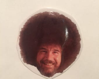 BOB ROSS Temporary Tattoo Bob Ross Big Hair