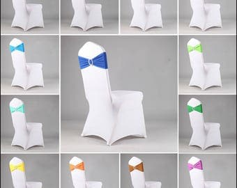 wedding chair covers lycra spandex chair bands with buckle chair covers wedding decor diamante