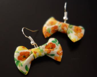 Bow flower Vintage earrings