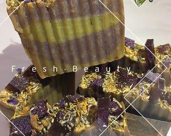 Garden Lavender Vanilla skin softening soap