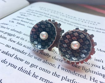 Steampunk Inspired Stud Earrings