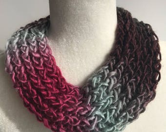 Handmade Knitted Infinity Scarf 3029