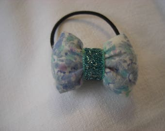 hair tie with bow padded liberty/white