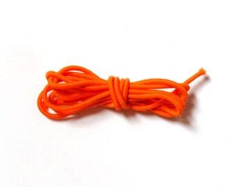Round elastic, 2 mm, 1 m, Orange