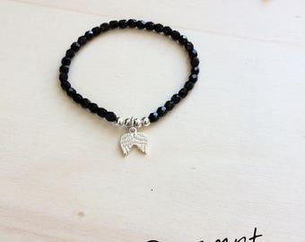 Bracelet aile d'ange en argent 925
