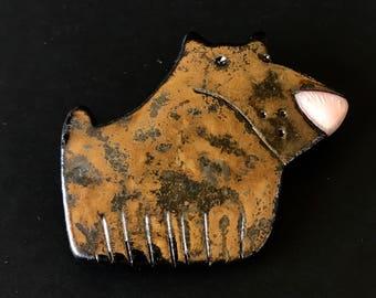 Ceramic Handmade Brooch (gloss finish)