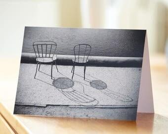 Tuileries Garden, Paris, birthday, greetings,lovers, retro, black and white, photograph
