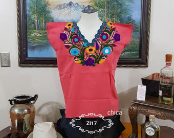 Hand embroidered and hand stitched shirt