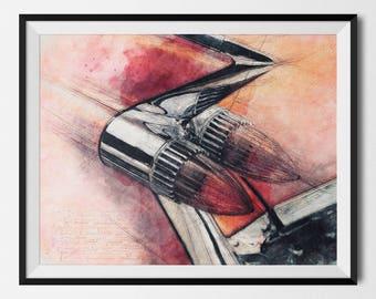 Classic Car Print, Classic Car Poster, Vintage Car Print, Cadillac Eldorado, Retro Car Print, Oldtimer, Car Printable, INSTANT DOWNLOAD