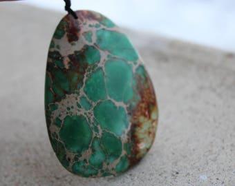 """Necklace Jasper """"shield"""" - Jasper - necklace"""
