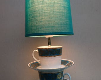 Cup and saucer lamp